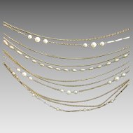 Carol Creations 12 Strand Necklace with Simulated Pearls