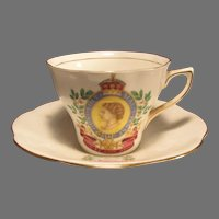 Queen Elizabeth Coronation Rosina Bone China Cup and Saucer