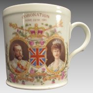 Late Foley Shelley Small Mug Coronation of George and Mary
