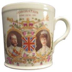 Late Foley Shelley Small Mug Coronation of George and Mary