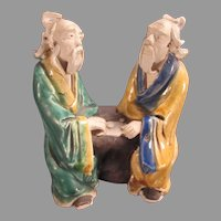Mudman Chinese Sages Playing Game Figurine