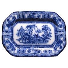 Flow Blue Rectangular Dish Ironstone Adams Kyber