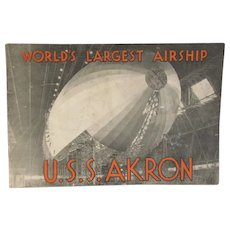 U.S.S. Akron 1931 Airship Booklet