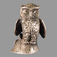 Sterling SIlver Owl Figurine by Samuel Kirk and Sons