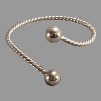 Sterling Silver Torque Bracelet by Richards