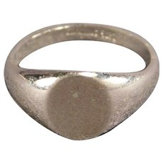 Sterling Silver Signet Ring SIze 5 Ladies or Youth
