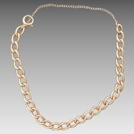 Vintage 14 Karat Gold Charm Bracelet