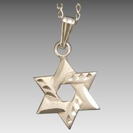 Petite Sterling Silver Star of David with 16 Inch Chain