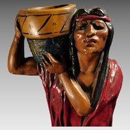 Large Native American Figural Incense Burner Store Display for Lucas Incense