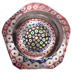 1973 Whitefriars Millefiori Paperweight with Base