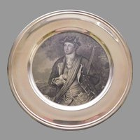 Sterling Silver Plate by Kirk of George Washington