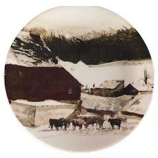 Andrew Wyeth Plate 'The Kuerner Farm' for Georg Jensen