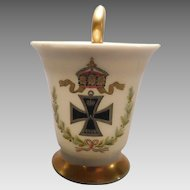 Porcelain Demitasse WWI Iron Cross by Thomas of Bavaria
