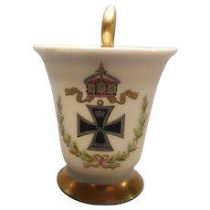 Porcelain Demitasse WWI Iron Cross by Thomas of Bavaria