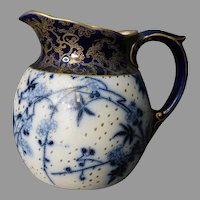 Doulton Burslem Flow Blue Pitcher