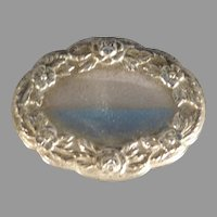 Sterling Silver Repousse Pin or Brooch by Samuel Kirk