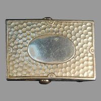 Sterling Silver Arts and Crafts inspired Belt Buckle by E. I. Franklin and Company