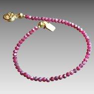 Pink Sapphire Silverite Gemstone Bracelet with 14k Gold Fill