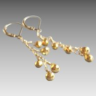 Golden Pyrite Gemstone Earrings