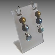 Stormy Skies Gem Earrings with Labradorite, Pyrite and More