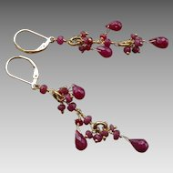 Ruby Gemstone Earrings