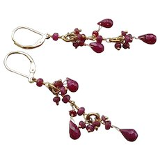Ruby Gemstone Earrings