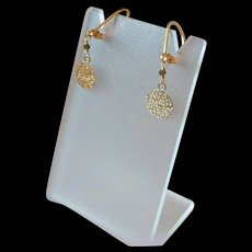 Dainty 14k Gold Fill Textured Disc Earrings