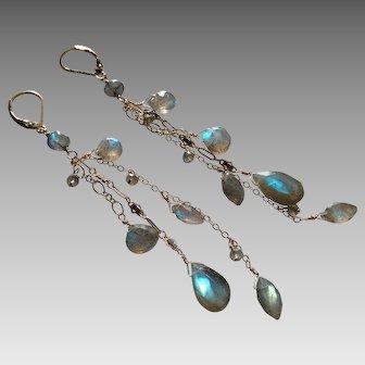 Lively Labradorite Gemstone Earrings
