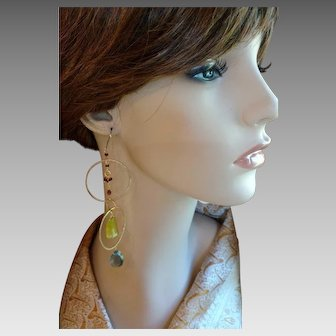 Wild Woman Artisan Earrings with Gemstones