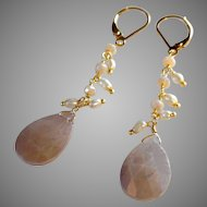 Mystic Moonstone Gem Earrings with 14k Gold Fill