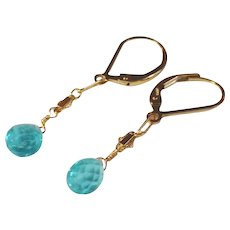 Apatite Gemstone Earrings with 14k Gold Fill