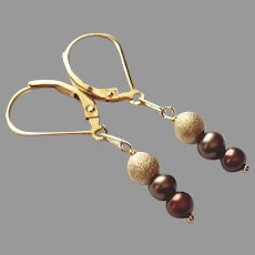 Minimalist Earrings with Gold Fill and Cultured Pearls