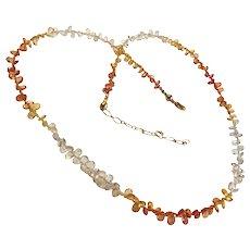 Natural Translucent Sapphire (September Birthstone) Gemstone Necklace with Extender