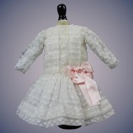"Beautiful Reproduction Dress 12"" long for 20""-22"" Bisque Doll"