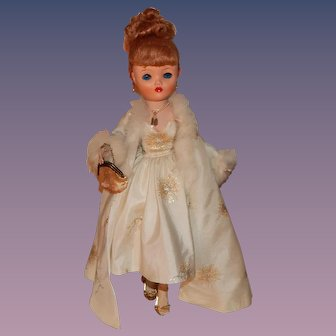Beautiful Vintage Uneeda Dollikin Doll Red Titian Hair