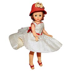 Vintage Madame Alexander Cissette Doll in Dropped Waist Dress Ensemble