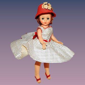 Vintage Madame Alexander Cissette Doll in Dropped Waist Dress Ensemble