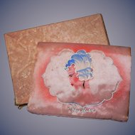 Wonderful Art Deco 1920's Handkerchief Holder Hanky Vanity Boudoir Flapper