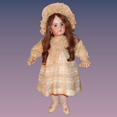 Lovely Antique Doll DRESS AND HAT Bisque Bebe Poupee Jumeau Steiner Bru 26-28""
