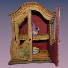 Wonderful French Fashion Doll or Antique Doll Vitrine Cabinet Curio Napoleon III