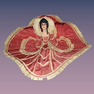 Magnificent French Courtesan Boudoir Cloth Doll All Original