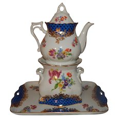Wonderful Porcelain Miniature Teapot Veilleuse