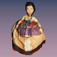 Gorgeous Vintage Russian Gypsy Tea Cozy Cosy Cloth Doll