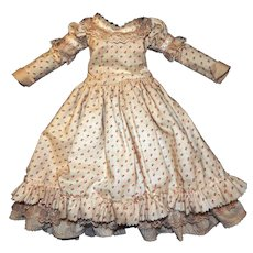 Lovely Dress for an Antique or Bisque Doll