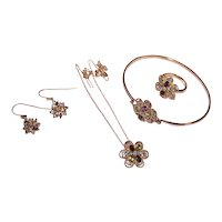 Ross Simons 4 Pc Sterling Silver Vermeil Multi Gemstone Jewelry Set