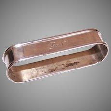 Vintage Gorham Sterling Silver Napkin Ring Engraved Pat