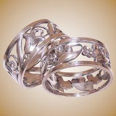 2 Alphonse La Paglia Sterling Silver Napkin Rings Napkin Holders