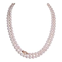 "34"" Single Strand 6mm x 6.75mm Cultured Pearl Necklace with 14K Gold Clasp"