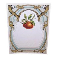 Art Nouveau French Golden Pear Label Printed in France Golden Pears