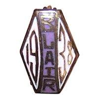 Vintage 1938 Frank P Blair School St Louis Mo Lapel Pin Graduate Pin
